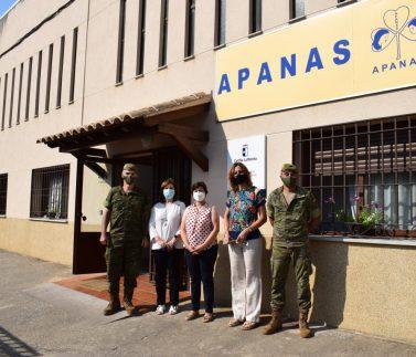 Visita Coronel Director Academia a APANAS